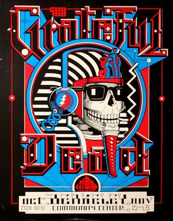 Grateful Dead - Berkeley Community Center - October 27, 28, 30, 31, November 2 -3, 1984 (Poster)