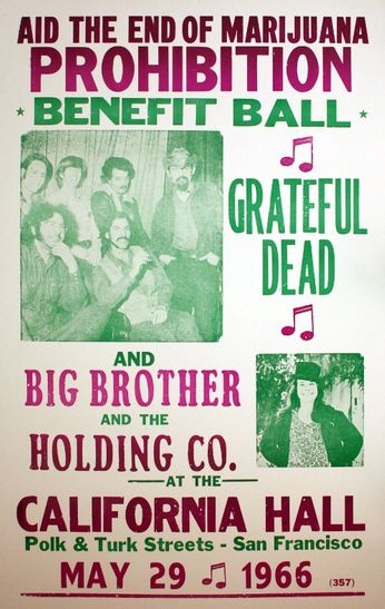 Grateful Dead / Big Brother & The Holding Company - California Hall - May 29, 1966 (Poster)