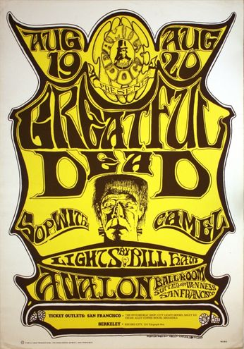 Grateful Dead - The Avalon Ballroom - August 19-20, 1966 (Poster)
