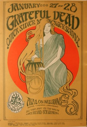 Grateful Dead/Quicksilver Messenger Service - The Avalon Ballroom - January 27-28, 1967 (Poster)
