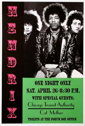 Jimi Hendrix - The Forum - April 26, 1969 (Poster)