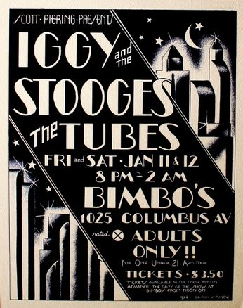 Iggy & The Stooges - Bimbo's - January 11 - 12, 1974 (Poster)