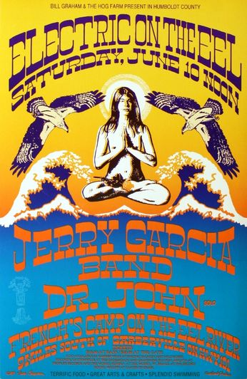 Jerry Garcia Band / Dr. John - French's Camp  - June 10, 1989 (Poster)