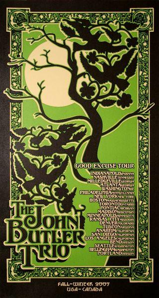 The John Butler Trio Good Excuse Tour Poster Amoeba