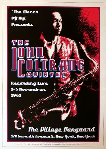 The John Coltrane Quintet - The Village Vanguard - November 1 - 5, 1961 (Poster)