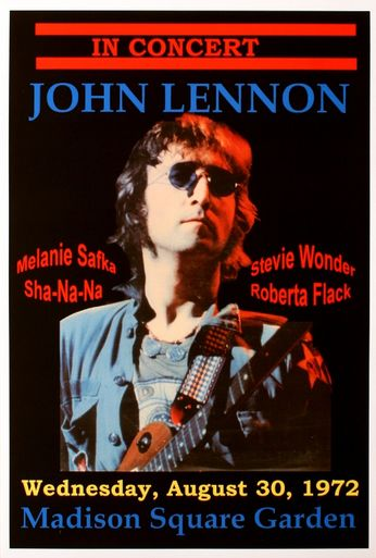 John Lennon - Madison Square Garden - August 30, 1972 (Poster)