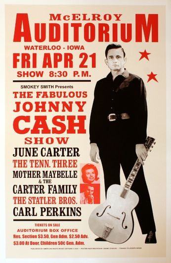Johnny Cash - McElroy Auditorium - April 21, 1967 (Poster)