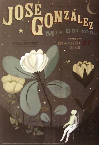 Jose Gonzalez - The Fillmore - March 27, 2008 (Poster)