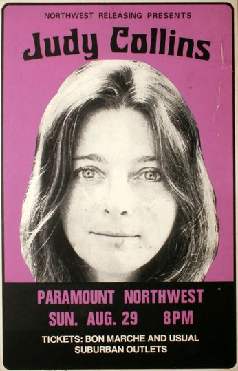 Judy Collins - Paramount Northwest - August 29, 1976 (Poster)