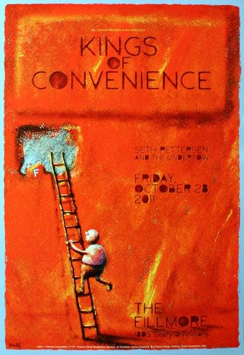 Kings of Convenience - The Fillmore - October 28, 2011 (Poster)