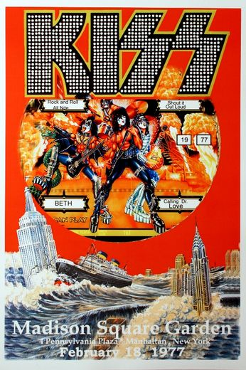 Kiss - Madison Square Garden - February 18, 1977 (Poster)