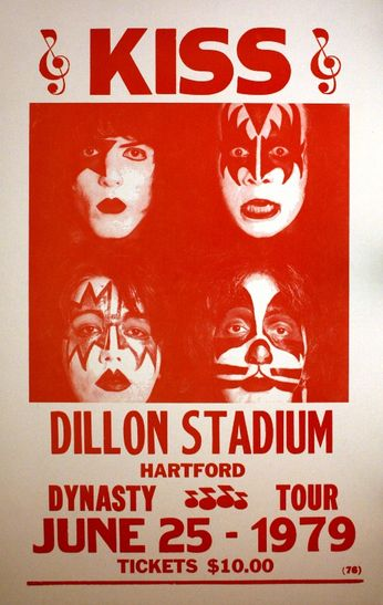 Kiss - Dillon Stadium - June 25, 1979 (Poster)