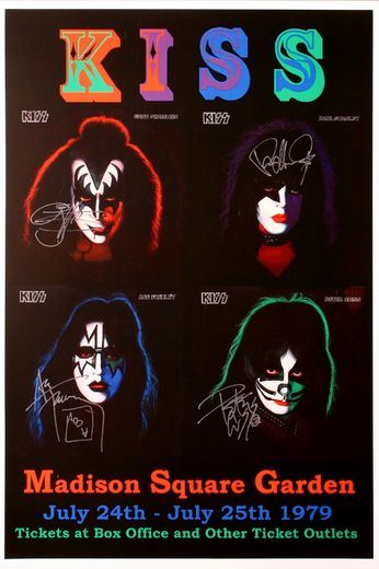 Kiss - Madison Square Garden - July 24-25, 1979 (Poster)