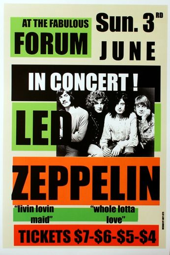 Led Zeppelin - The Forum - June 3, 1973 (Poster)