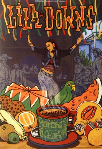 Lila Downs - The Fillmore - March 24, 2007 (Poster)