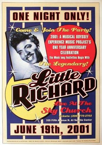 Little Richard - The Sky Church - June 19, 2001 (Poster)