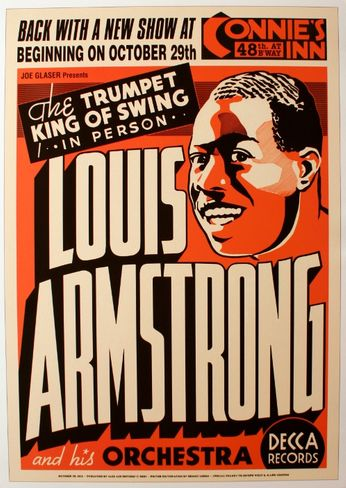 Louis Armstrong - Connie's Inn - October 29, 1935 (Poster)