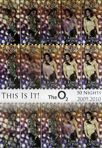 Michael Jackson - O2 Arena - This Is It Tour 2009/10 [Gold] (Poster)