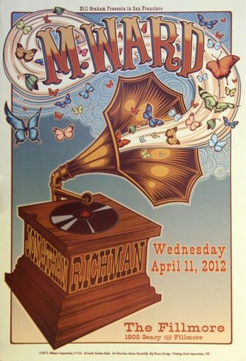 M. Ward - The Fillmore - April 11, 2012 (Poster)