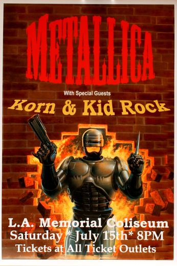 Metallica - LA Memorial Coliseum - July 15, 2000 (Poster)