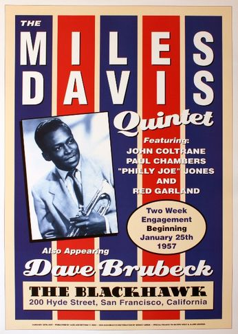 The Miles Davis Quintet - The Blackhawk - January 25, 1957 (Poster)
