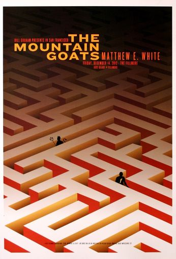 The Mountain Goats - The Fillmore - December 14, 2012 (Poster)