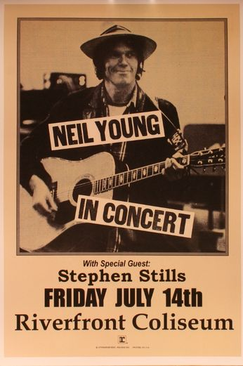 Neil Young - Riverfront Coliseum - July 14, 1976 (Poster)