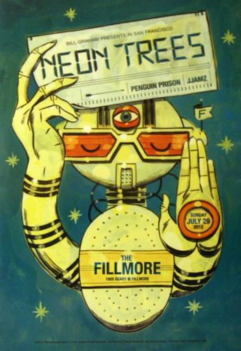 Neon Trees - The Fillmore - July 29, 2012 (Poster)