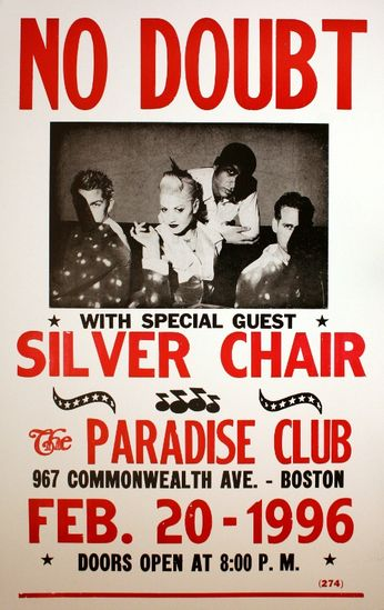No Doubt - The Paradise Club - February 2, 1996 (Poster)