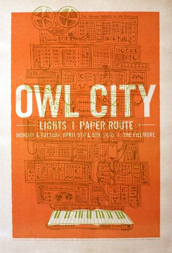 The Fillmore - Owl City - April 5-6, 2010 (Poster)