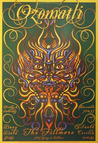 The Fillmore - Ozomatli - December 10 - 11, 2010 (Poster)