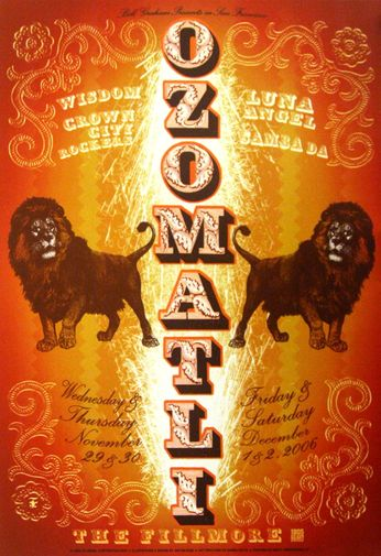 Ozomatli - The Fillmore - November 29 - December 2, 2006 (Poster)