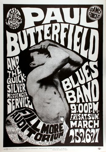 Paul Butterfield - The Fillmore - March 25-27, 1966 (Poster)