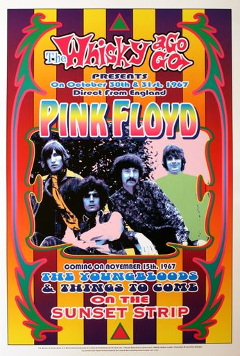 Pink Floyd - The Whiskey A Go Go - October 30-31, 1967 (Poster)