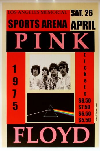 Pink Floyd - Los Angeles Memorial Sports Arena - April 26, 1975 (Poster)