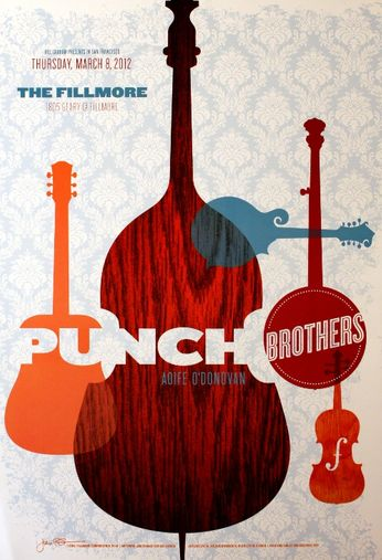 The Punch Brothers - The Fillmore - March 8, 2012 (Poster)
