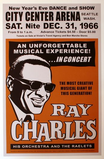 Ray Charles - City Center Arena - December 31, 1966 (Poster)