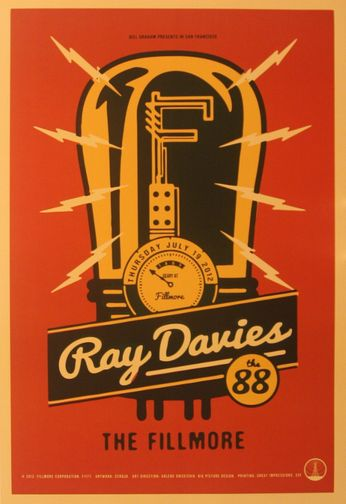 Ray Davies - The Fillmore - July 19, 2012 (Poster)