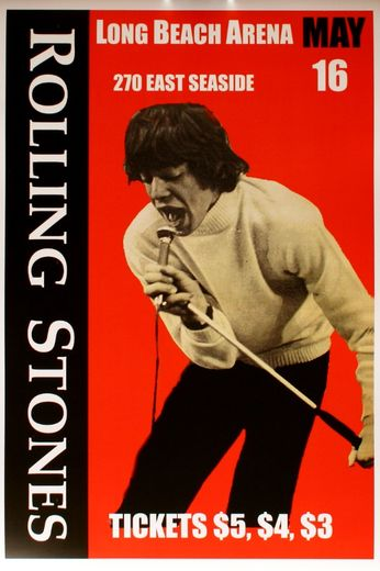 The Rolling Stones - Long Beach Arena - May 16, 1965 (Poster)