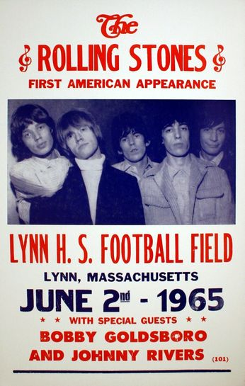 Rolling Stones - Lynn H.S. Football Field - June 2, 1965 (Poster)