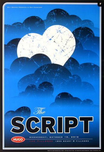 The Script - The Fillmore - October 13, 2010 (Poster)