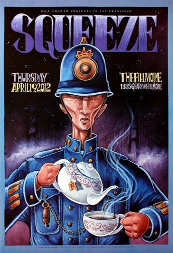 Squeeze - The Fillmore - April 19, 2012 (Poster)