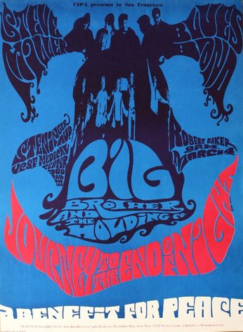 Steve Miller Blues Band / Big Brother & The Holding Company - Steninger Auditorium (UCSF) - March 4, 1967 (Poster)