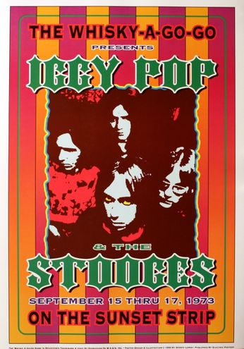 Iggy & The Stooges - The Whiskey A Go Go - September 15-17, 1973 (Poster)