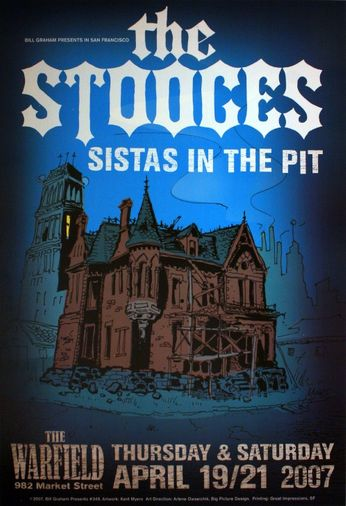 The Stooges - The Warfield - April 19, 21, 2007 (Poster)