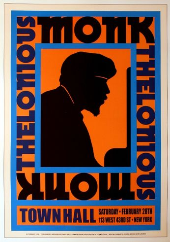 Thelonious Monk - Town Hall - February, 28 1959 (Poster)