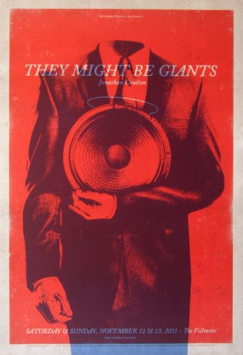 They Might Be Giants - The Fillmore - November 12-13, 2011 (Poster)