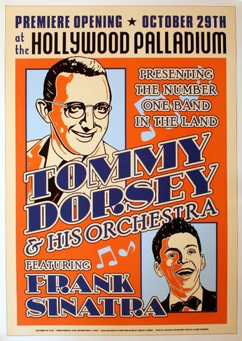 Frank Sinatara / Tommy Dorsey - Hollywood Palladium - October 29, 1940 (Poster)
