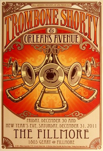 Trombone Shorty - The Fillmore - December 30-31, 2011 (Poster)