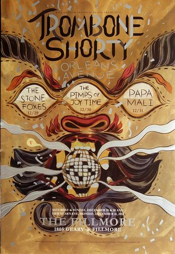 Trombone Shorty - The Fillmore - December 29-31, 2012 (Poster)